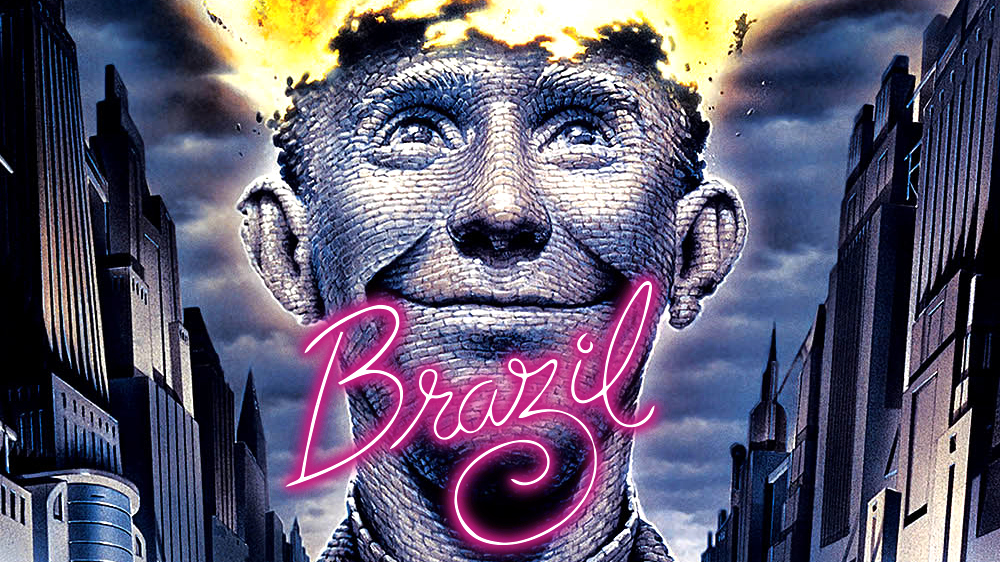 brazil 1985 by terry gilliam Watch video directed by terry gilliam with jonathan pryce, kim greist, robert de niro, katherine helmond a bureaucrat, in a retro-future world, tries to correct an.