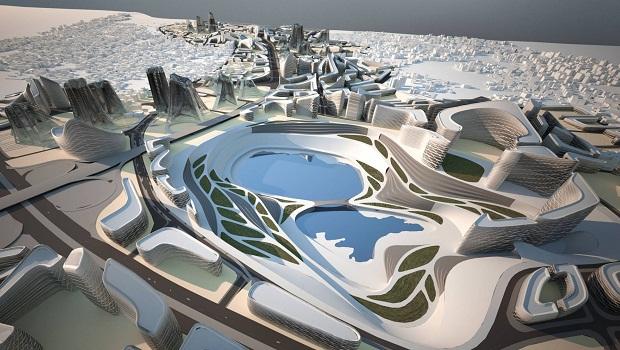 Zaha Hadid, İstanbul için geleceğin metropolünü planlamıştı.
