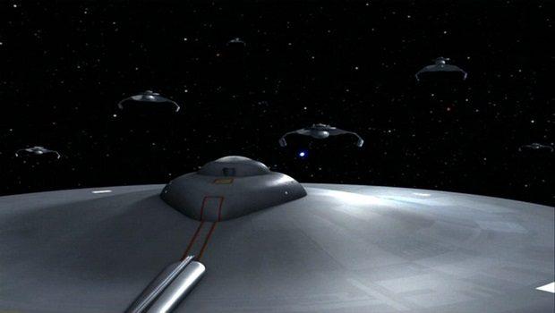 Atılgan ve Klingon gemileri savaşıyor