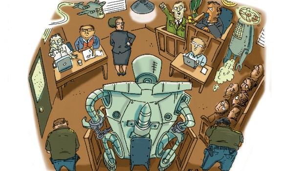 robot ve çocuk