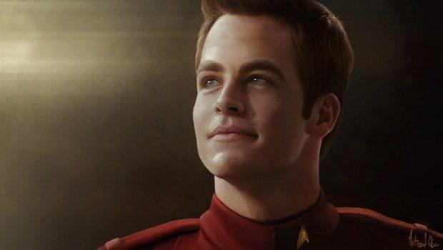 Chris Pine tarafından canlandıran alternatif evrende James T. Kirk