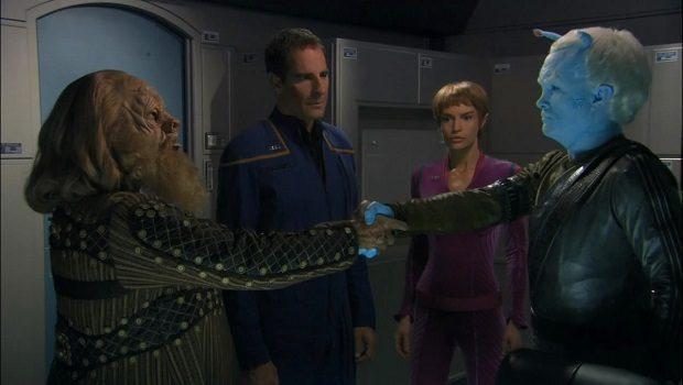 Archer, Tpol, bir Tellarite ve bir Andorian.