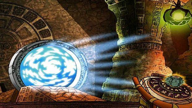 Stargate Infinity dizisinden. Chapa'ai ve DHD.