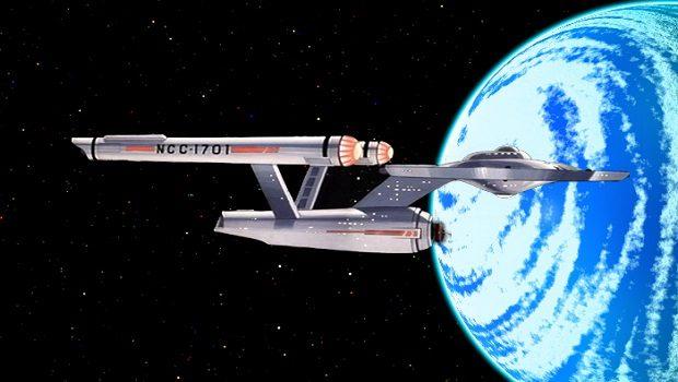 Federasyon yıldız gemisi Enterprise.
